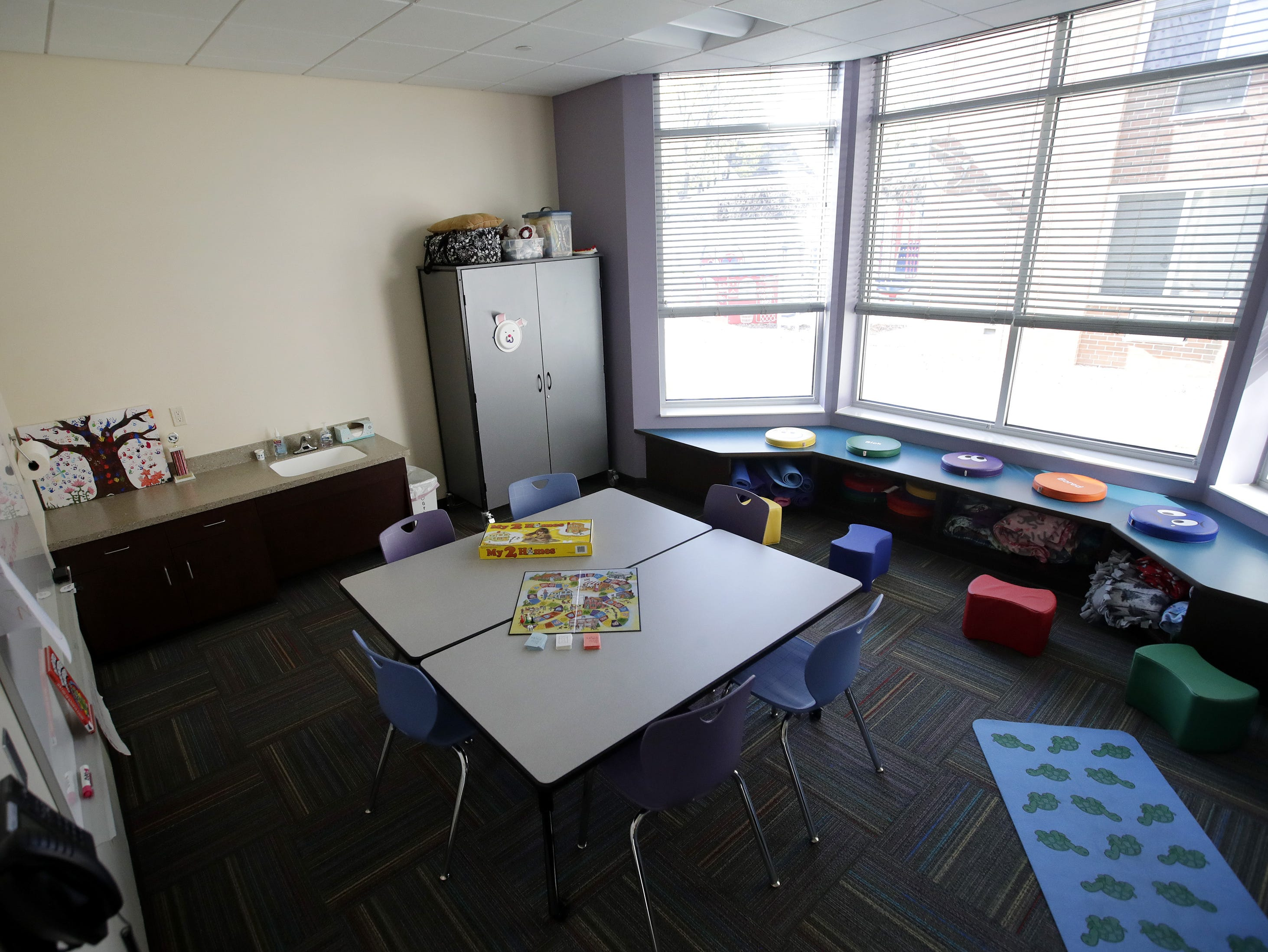 A children's gathering place inside Harbor House Domestic Abuse Programs' expanded facility in Appleton.