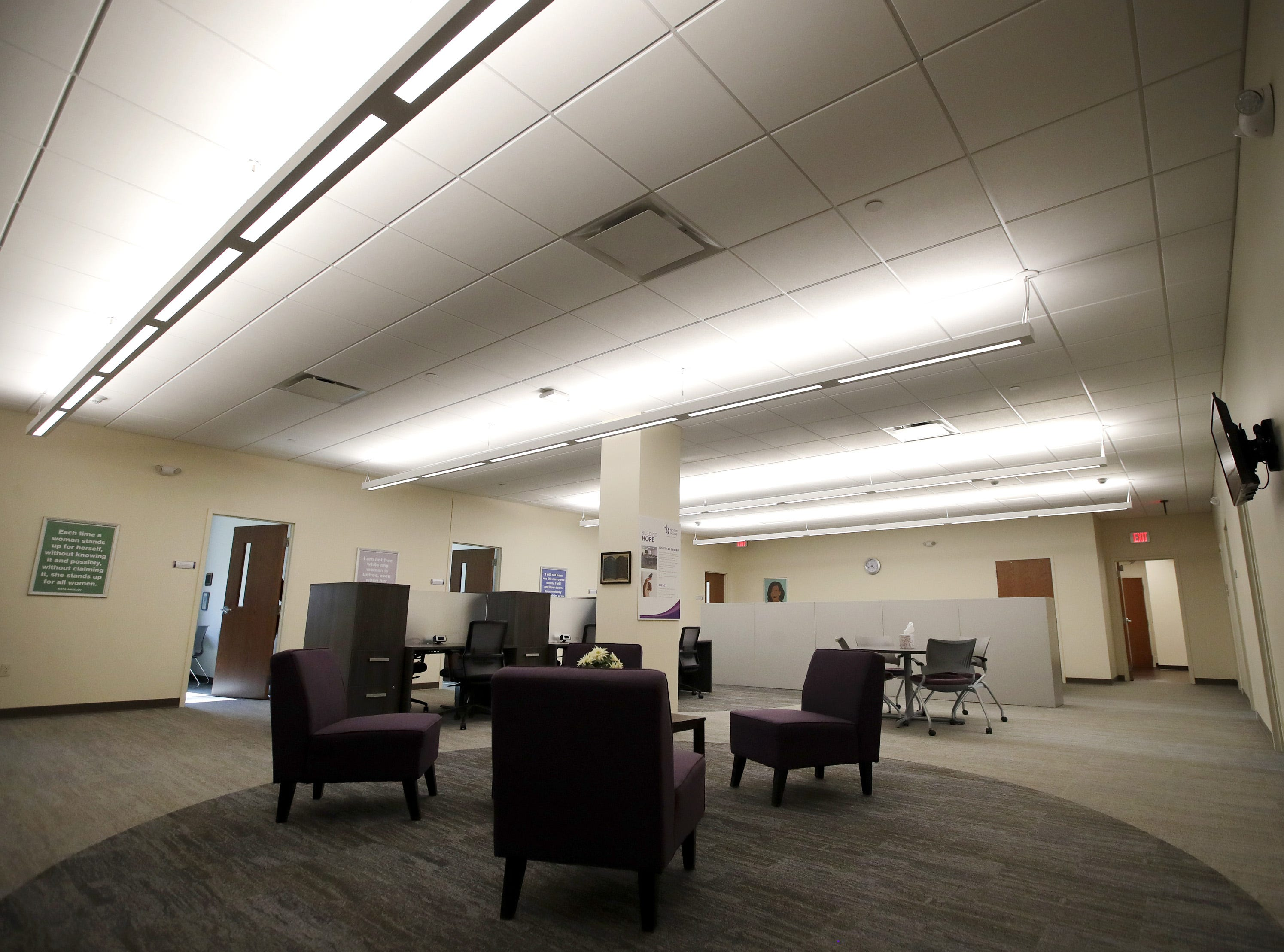 The inside of Harbor House Domestic Abuse Programs expanded facility ahead of an open house Tuesday in Appleton.