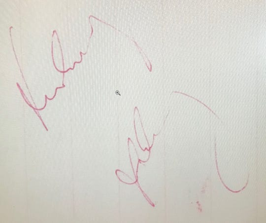 Seaside Heights Police Chief Thomas Boyd is selling this autograph - believed to be the last ever signed by President John F. Kennedy on the day he was assassinated - on an auction site.