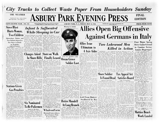 May 12, 1944 front page story