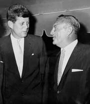 In 1960, then-Sen John F Kennedy (D-Mass) chats with Mayor Eugene Lowenstein, Bradley Beach at the Essex County organization outing at Homestead Gold Club in Spring Lake Heights.