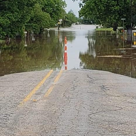 Overnight storms Wednesday cause flooding in Merkel