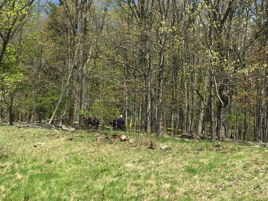 Johnson City Police investigate wooded area near Fairview Street and Columbia Drive where human remains were reportedly found.
