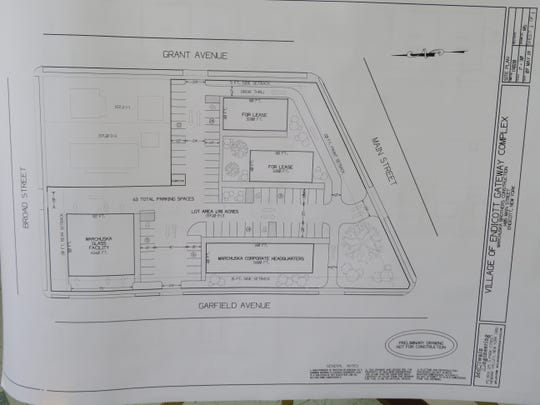 The proposed layout of Marchuska Brothers Construction's two-acre office complex.