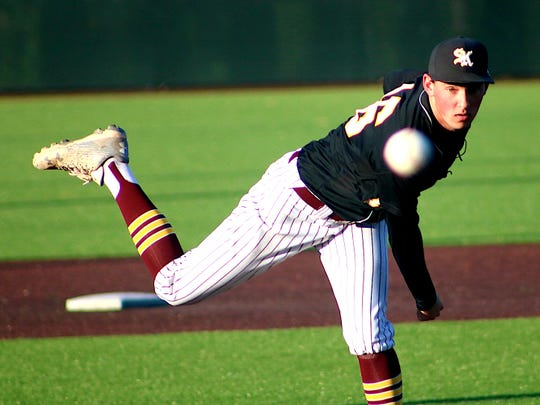 South Kitsap pitcher Tim Reidy earned a no-decision in the Wolves' 3-2 loss to Tahoma on Tuesday in Class 4A West Central/Southwest Bi-District tournament play.