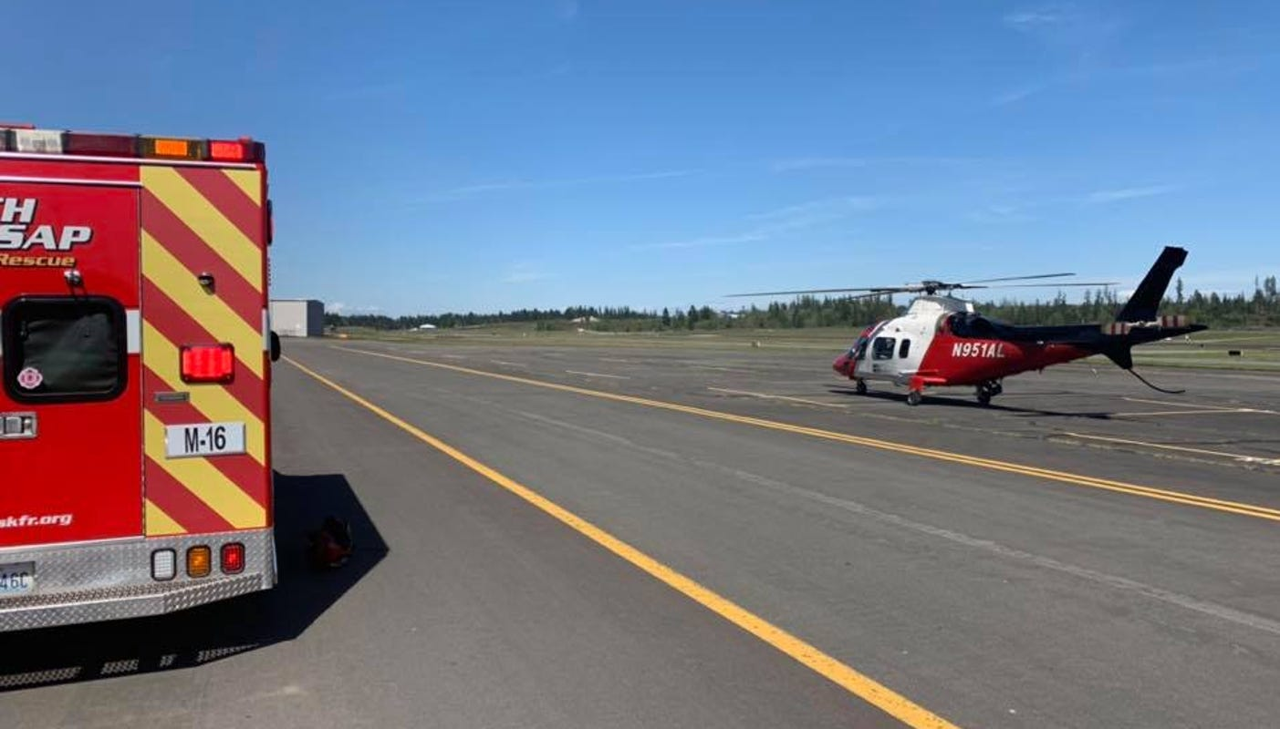 1 person flown to Seattle hospital following Highway 3 crash