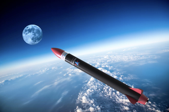 A rendering of Rocket Crafters' sounding rocket, which will be developed in partnership with RUAG Space.
