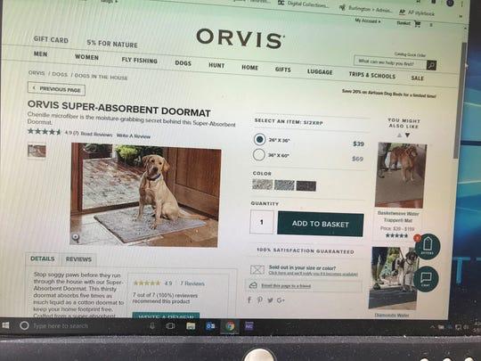"The new ""super-absorbent doormat"" from Orvis."