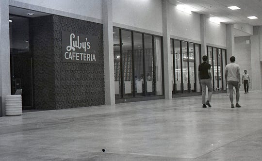 People walk past the Luby's Cafeteria inside Padre Staples Mall in Corpus Christi days before the formal grand opening on July 30, 1970.