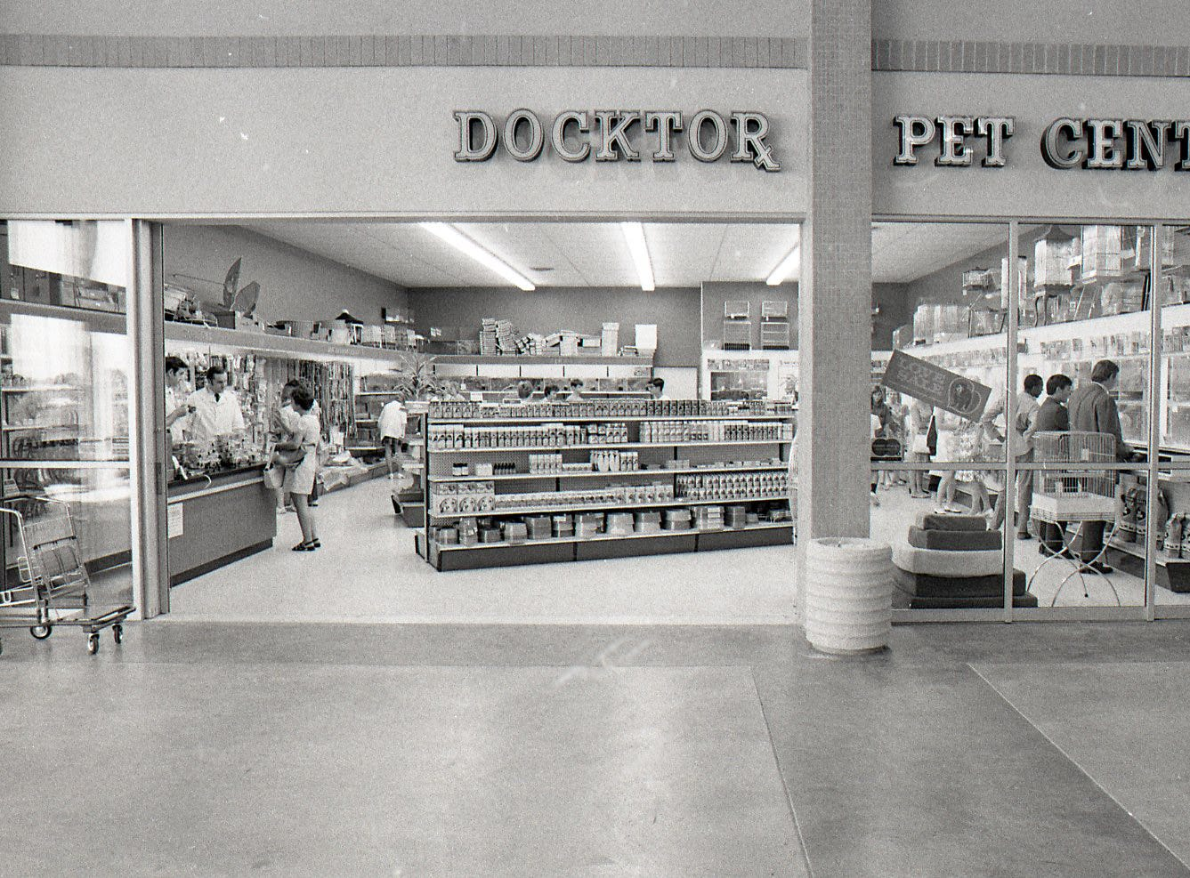 The Docktor Pet Center was one of the businesses inside Padre Staples Mall when it opened in July 1970.