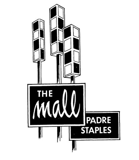 The original logo for Padre Staples Mall in Corpus Christi when the mall opened in 1970.