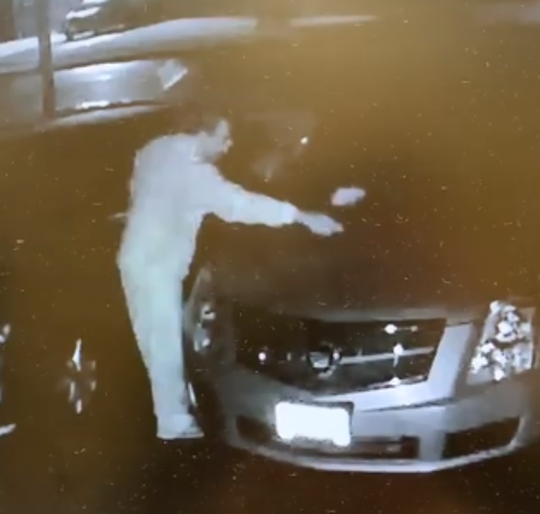 Westampton police are seeking this man in connection with recent vandalism incidents.