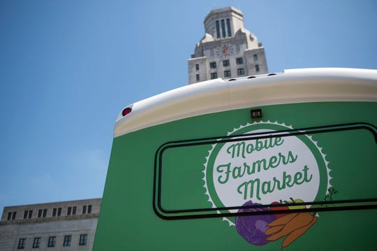 A mobile farmers market at Roosevelt Park Tuesday, May 7, 2019 in Camden, N.J.