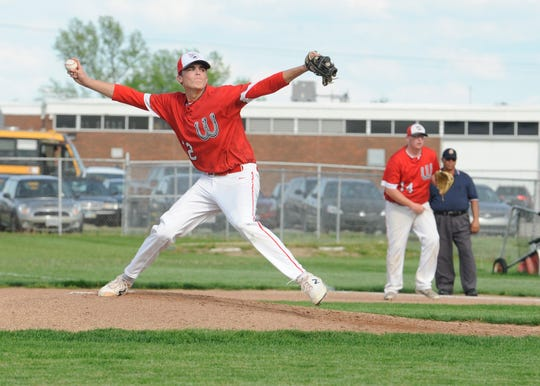 Westfall High School baseball's Luke Blackburn earned the male athlete of the week award after he was the winning pitcher, throwing a complete game, not allowing an earned run, and he struck out eight batters in a 2-0 win over Unioto on May 1.