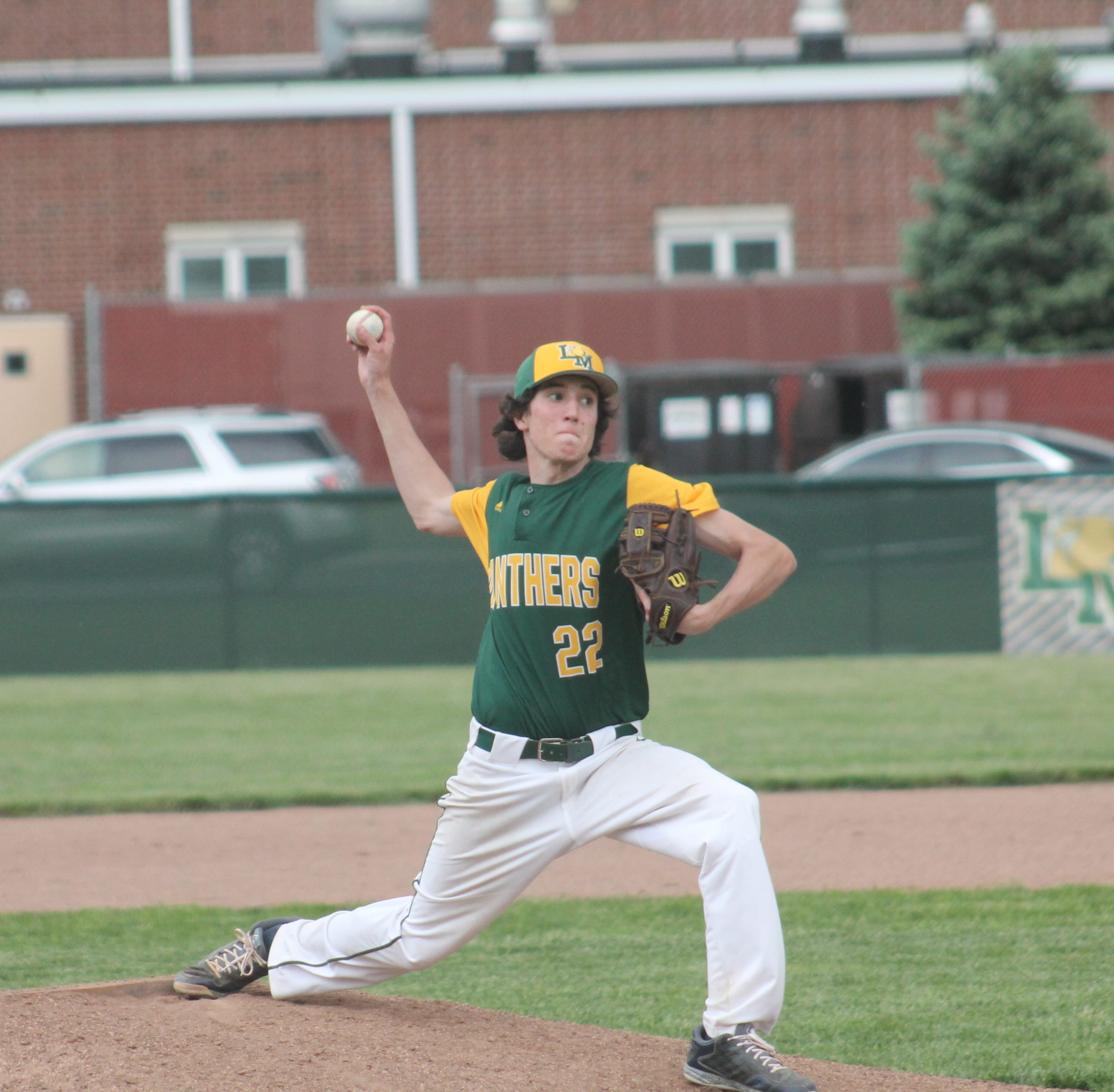Grayson Wells hurls it home in relief for Little Miami May 7. The Panthers prevailed 8-2