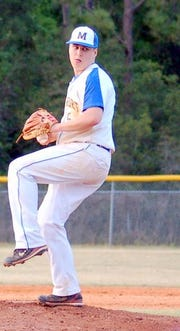 Mariemont right-hander Erik Swanson  aided the Warriors efforts with a 92 mile per hour heater in high school.