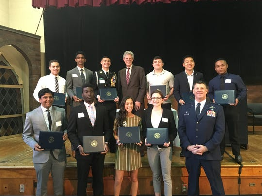 The New Jersey Congressman honored the 20 candidates he nominated to the U.S. Service Academies.