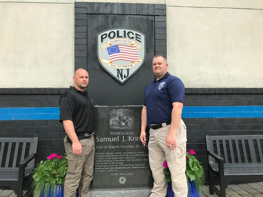 Bound Brook Detective Jason Gianotto and Sgt. Peter Romanyszyn are being honored by the 200 Club of Somerset County for their efforts in rescuing a man in a collapsed trench.