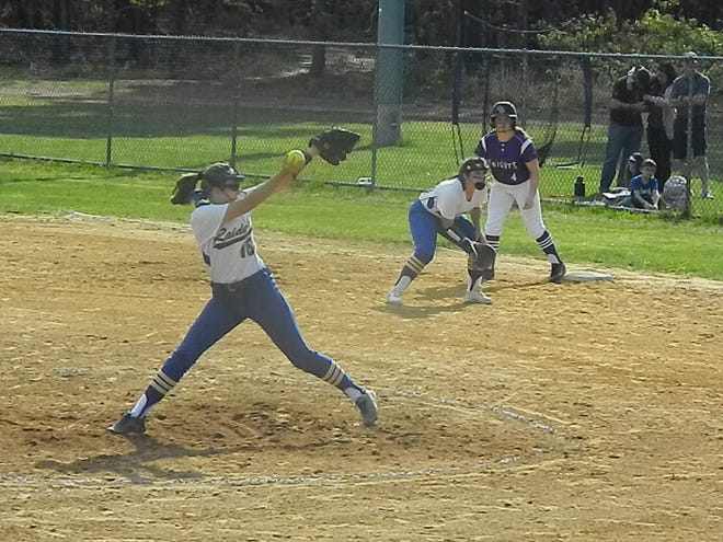 The eighth-seeded Old Bridge softball team hosted No. 9 North Brunswick in the GMC Tournament first round on Wednesday, May 8, 2019.