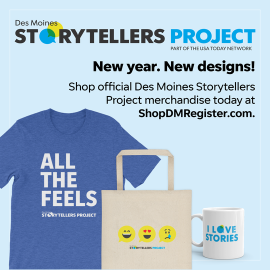 Browse the newest Des Moines Storytellers Project apparel and keepsakes at ShopDMRegister.com.
