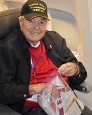 Frank Manchel on a flight to Washington, D.C. days before he collapsed May 5, 2019, on a flight home to San Diego.