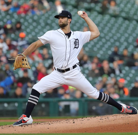 Detroit Tigers Daniel Norris pitches against the Los Angels Angels during second inning action Tuesday, May, 7, 2019 at Comerica Park in Detroit, Mich.
