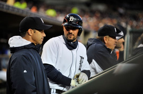 Nick Castellanos, right, spent four seasons playing under former Tigers manager Brad Ausmus.