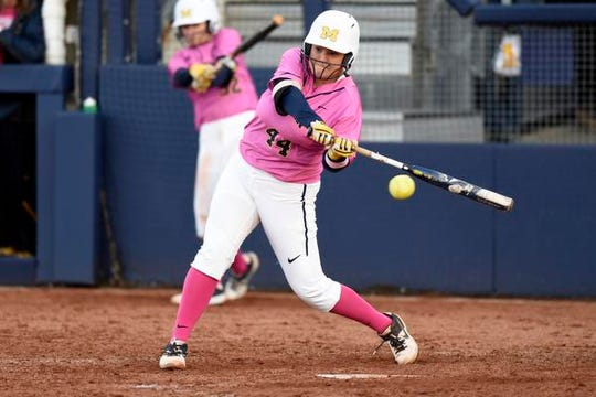 As designated player, Mackenzie Nemitz, known for her loud voice, is a constant presence from the dugout, staying in the game pitch-by-pitch helping her teammates on defense.