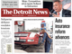 The front page of the Detroit News on Wednesday, May 8, 2019