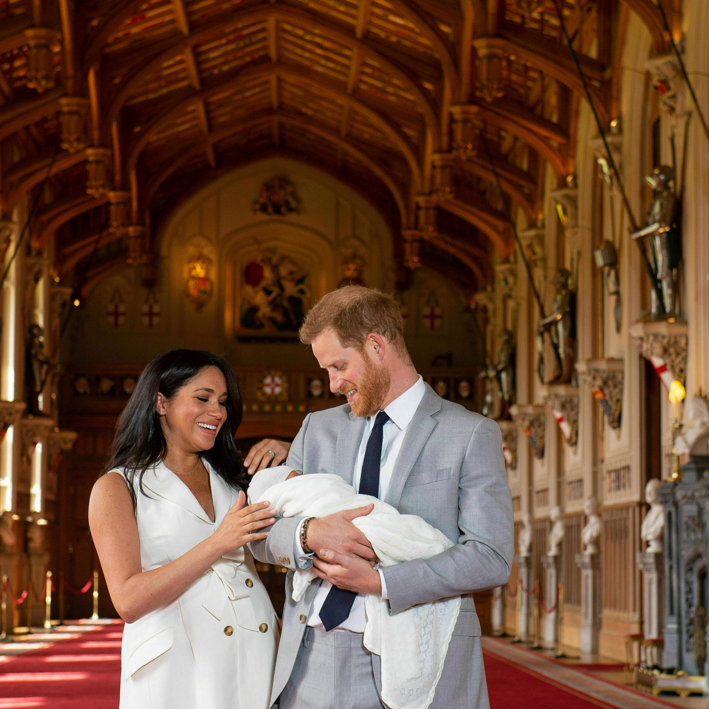 Meghan, Harry present royal newborn to public