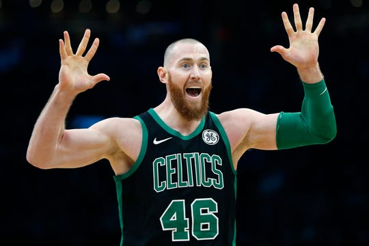 Aron Baynes averaged 5.6 points and 4.6 rebounds in 15.4 minutes per game during his two seasons with the Pistons.