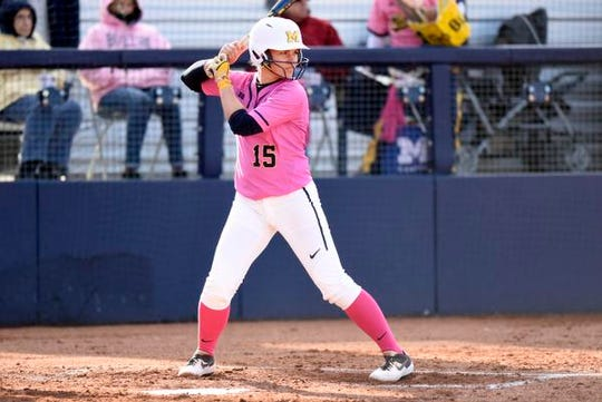 Alex Sobczak, announced Wednesday as an All-Big Ten second-team selection who also made the All-Defensive team as a first baseman, arrived at Michigan as a highly touted player whom Carol Hutchins projected as her starting catcher as a freshman.