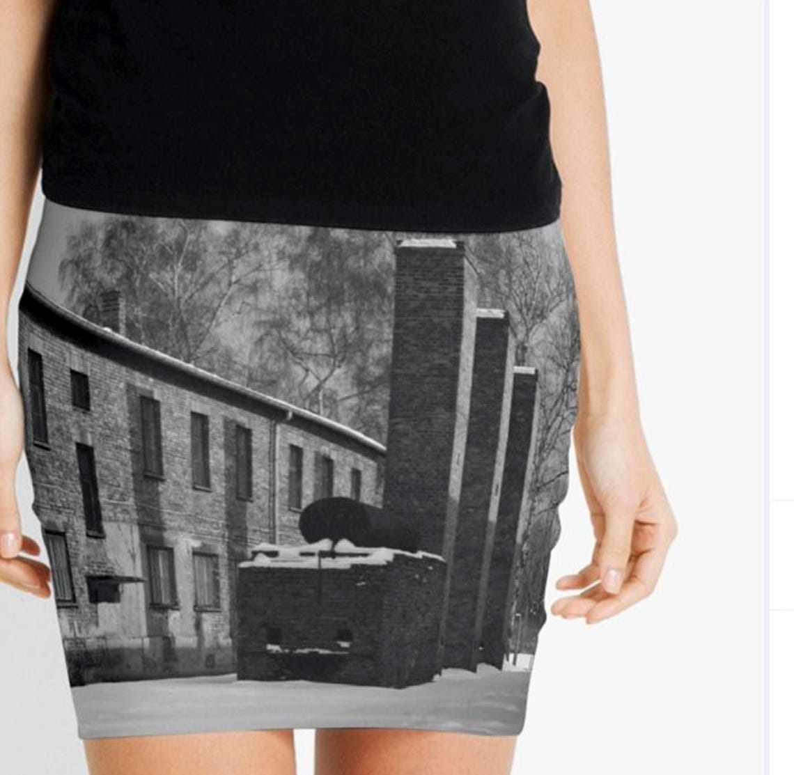 Auschwitz Museum protests camp photos on skirts and pillows