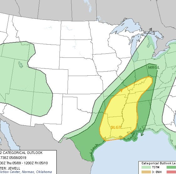 Severe thunderstorms are possible in the Evansville area Thursday