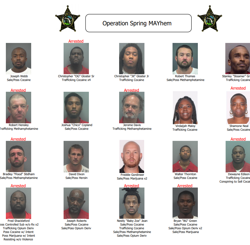 Authorities arrest 19 in latest operation targeting opioids in Lee County