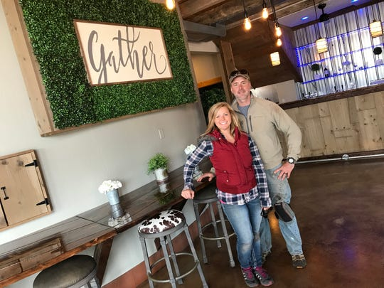 Stacey and David Vecellio inside The Grain Loft, their new event venue in what was The Flying Pig Gallery and Greenspace in Algoma. The Grain Loft hosts an open house May 10.