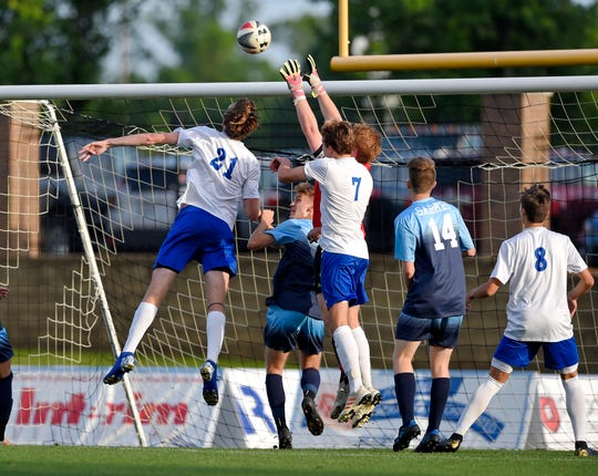 Southside Christian defeated St. Joseph 3-2 in a Class AA boys Upper State soccer playoff game Monday, May 6, 2019.