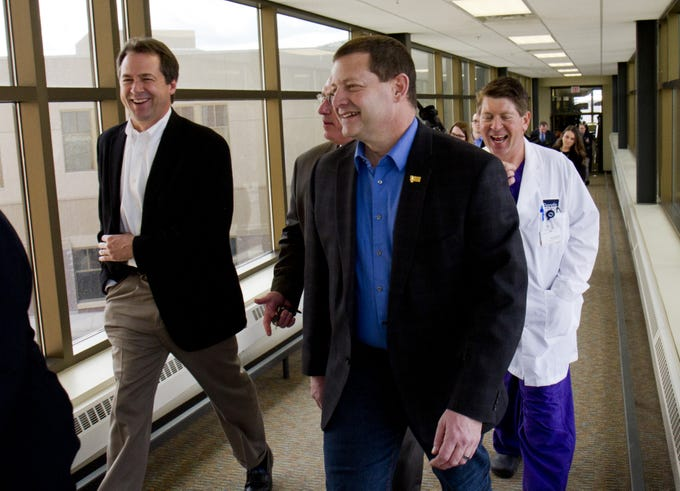Governor Steve Bullock was in Great Falls Thursday for a quick tour of Benefis and a roundtable discussion of Medicaid expansion with several legislators from the Great Falls delegation.