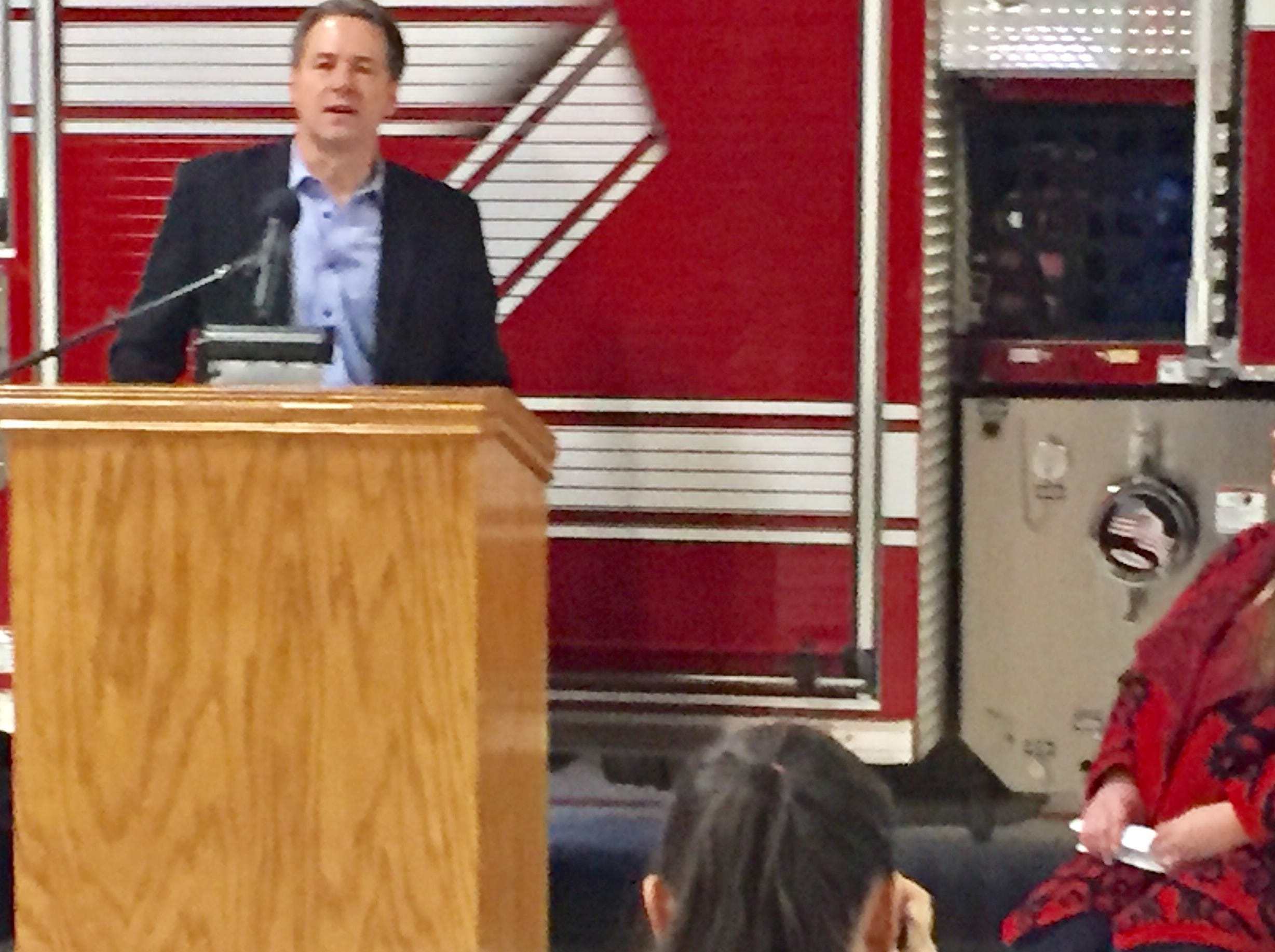 Gov. Steve Bullock talks Thursday about a new law that lets Montana's first responders use naloxone in dealing with opioid emergencies..  Tribune photo/Phil Drake Gov. Steve Bullock talks Thursday about a new law that lets Montana's first responders use naloxone in dealing with opioid emergencies..