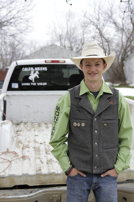Caleb Meeks plans to obtain a degree in agricultural business from MSU Bozeman and hopes to become a rodeo champion in the near future.