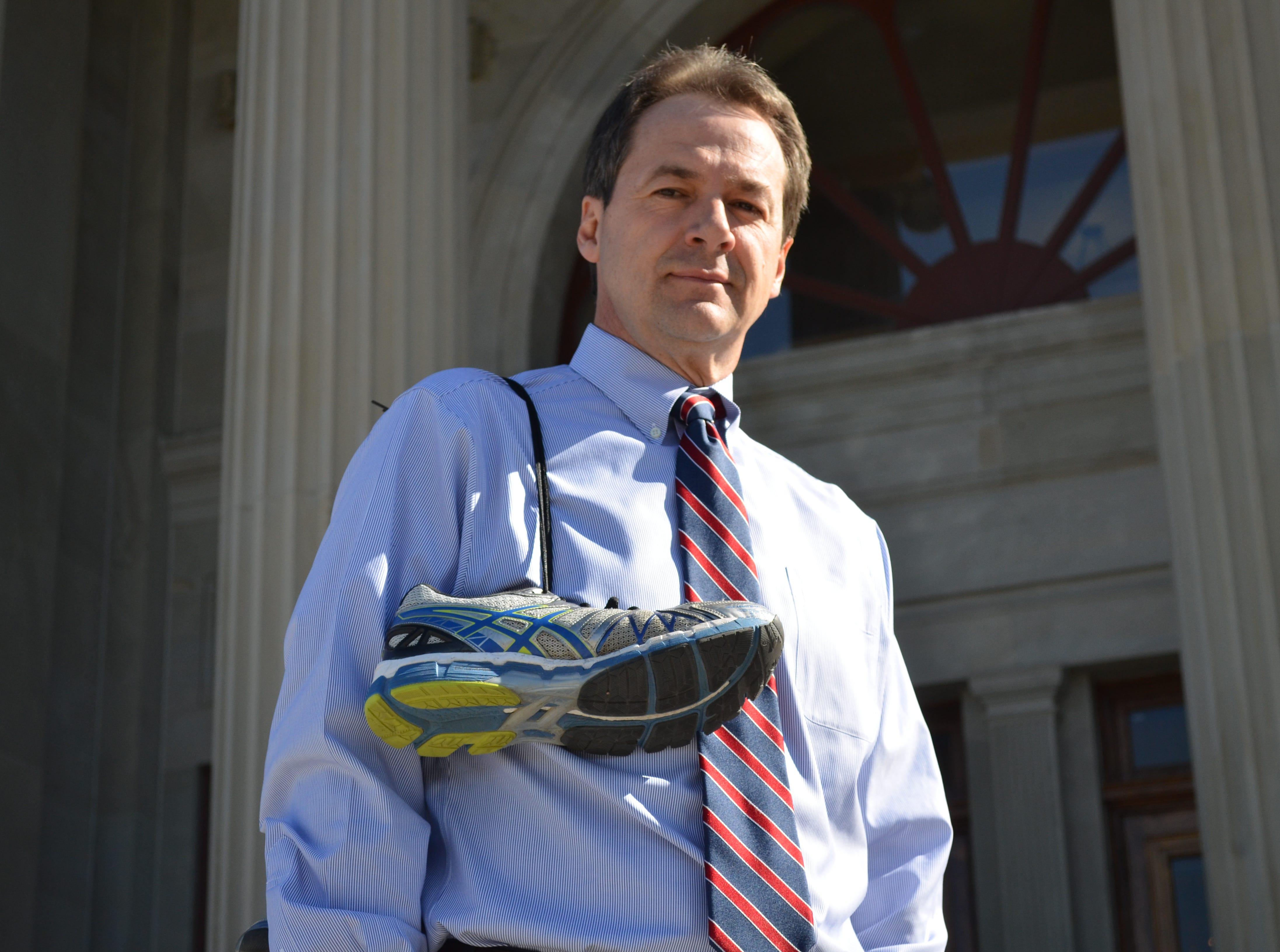 Gov. Steve Bullock prepares for Boston Marathon COURTESY PHOTO