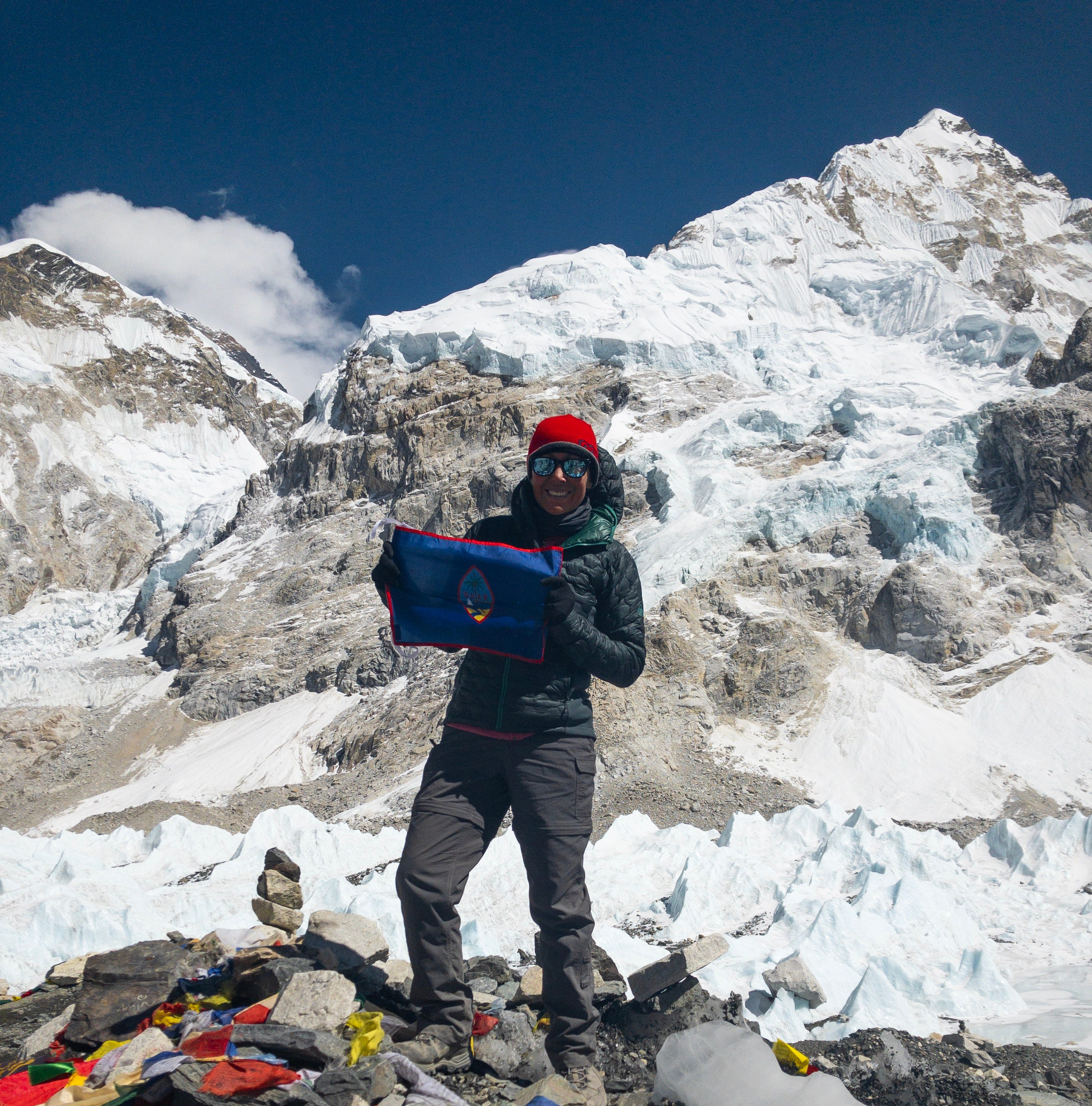 Tiffany Kemppainen, of CHamoru descent, reaches Mount Everest base camp