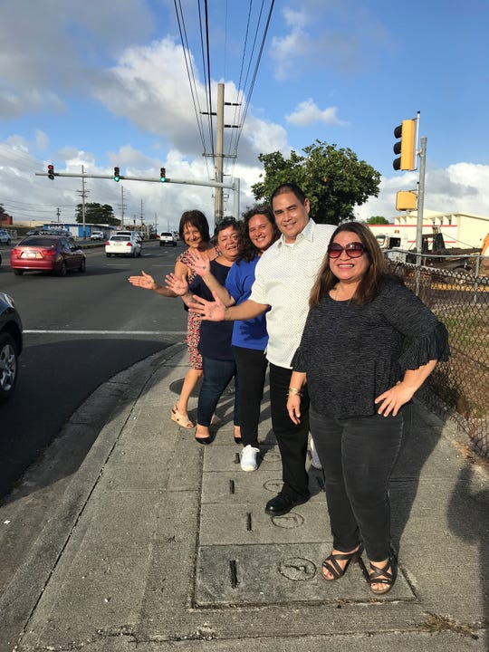 "Contractors License Board employees under the leadership of Cecil ""Buddy"" Orsini supported the protest shouting out ""Enough is Enough!"" (alongside are CLB staff Lily Santos, Jan Shimizu, Vince Aguon, Chris Leon Guerrero and DPW private secretary Lisa Villagomez on April 24."