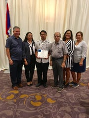The P.D. Hemlani Foundation, Ltd. is proud to announce that its first scholarship recipient, Andrew Santos, completed the GCA Trades Academy Core Curriculum for Construction Craft Laborers. Santos a former member of the Harvest House family, began classes in August 2018 and received a Platinum Certificate of Completion on March 20, 2019. He gained basic knowledge on safety, construction math, hand and power tools, construction drawing, rigging, communication skills, employability skills and materials handling. Pictured from left: Dr. Hubert Johnson, Education Director, GCA Trades Academy, Rayna Cruz, PDHF operations manager; Andrew Santos, PDHF scholarship recipient; Vashi Hemlani, PDHF board president; Elicia Santo Tomas, PDHF; and Elizabeth Peredo, GCA Trades Academy program administrator/Title IX coordinator.