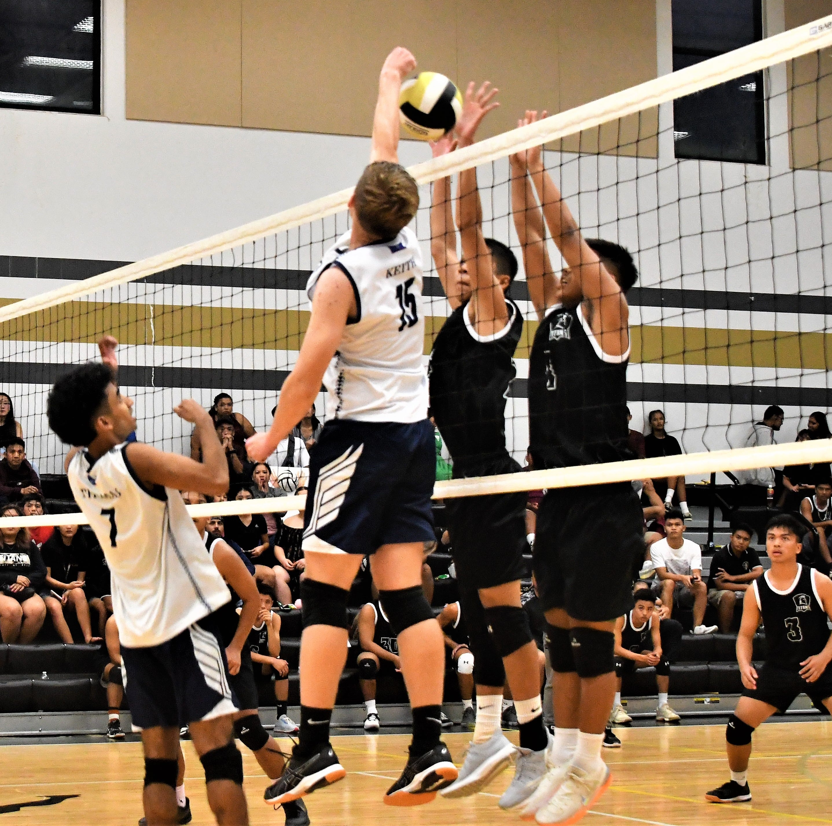 Harvest Eagles nip Tiyan Titans, advance to title match in boys volleyball