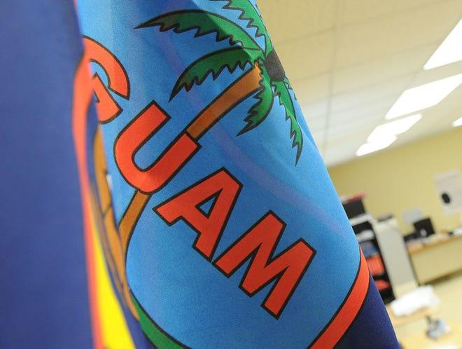 The Guam flag.