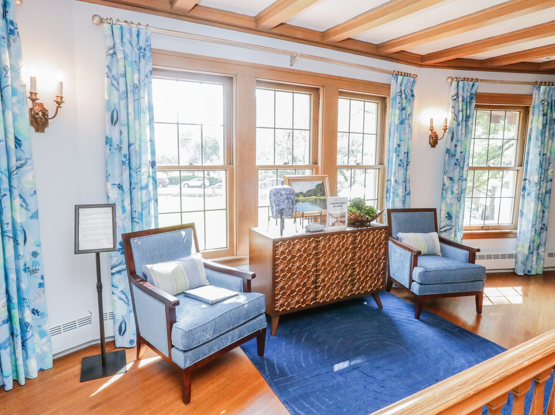 """The """"Second Floor Gallery and Landing"""" designed by Diane Hallquist Interior Design, inside The 58th annual St. Margaret's Hospital Guild Decorators' Show House and Gardens, located at 4160 Washington Blvd., Indianapolis, on Wednesday, May 8, 2019."""