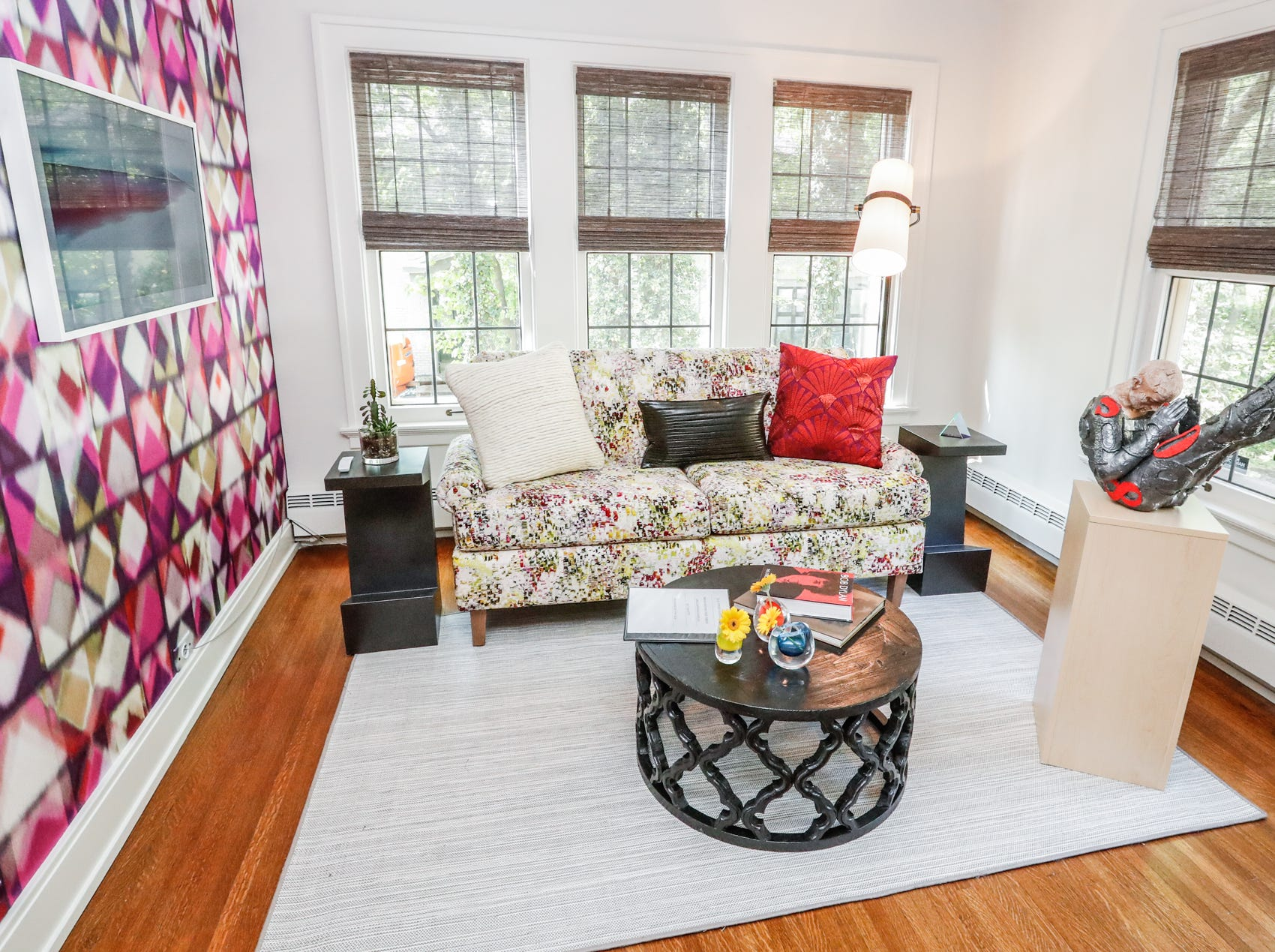 """The """"Here Comes the Sun"""", room, designed by Julie O'Brien Design Group, inside The 58th annual St. Margaret's Hospital Guild Decorators' Show House and Gardens, located at 4160 Washington Blvd., Indianapolis, on Wednesday, May 8, 2019."""