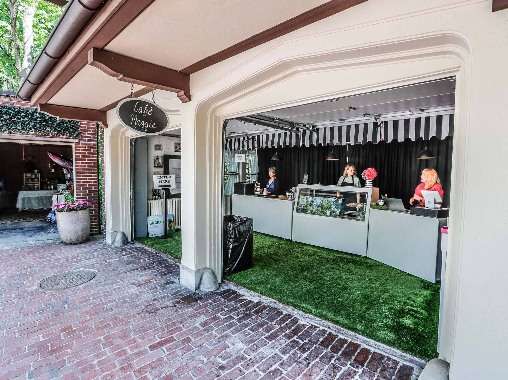 Cafe Maggie, located in the rear of the 58th annual St. Margaret's Hospital Guild Decorators' Show House and Gardens, 58th annual Decorator's Show House and Gardens, located at 4160 Washington Blvd., Indianapolis, on Wednesday, May 8, 2019.