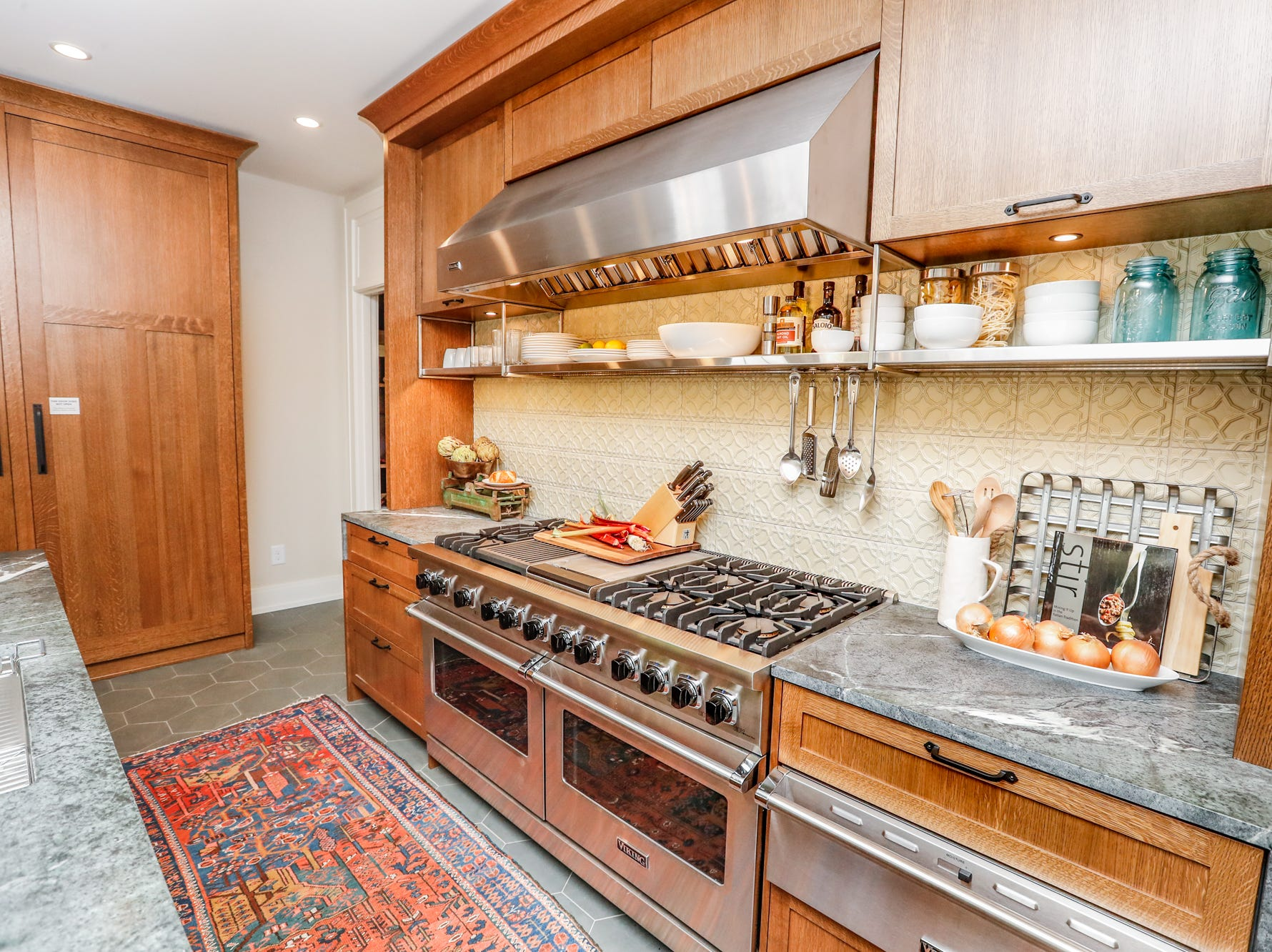 """The """"Kitchen"""" designed by Matthew Harries, of MW Harris, LLC, inside The 58th annual St. Margaret's Hospital Guild Decorators' Show House and Gardens, located at 4160 Washington Blvd., Indianapolis, on Wednesday, May 8, 2019."""